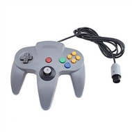 Wired Controller Joystick For Nintendo 64 Game System Gray Gamepad - ZZ529112