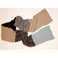 Color Block Knit Scarf Blue And Brown Multi-Color - EE471591