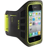 Belkin Easefit Sport Armband For Apple iPhone 4/4S Black / Limelight - EE541176