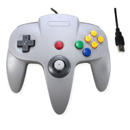 Classic Retro N64 Bit USB Wired Controller For PC And MAC Grey Gray - ZZ582117