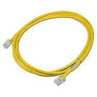 QVS CC712EX-25YW 25 Ft 350MHZ CAT5E Crossover Yellow Patch Cord  - DD648572