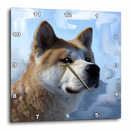 3DROSE Dpp 4171 1 Akita Portrait Wall Clock 10 By 10-Inch - DD651686