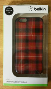 Belkin Mixit Case For iPhone 6 Red Plaid Cover Multi-Color Fitted - DD652516