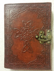 Fantasy Gifts Embossed Celtic Cross Faux Leather Handmade Paper - DD653325