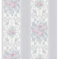 Brewster 974-44780 Vintage Legacy III Rose Scroll Stripe Wallpaper 20. - EE655650