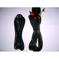 Generic Xbox AV Cables AC Power Cord For Xbox Original Black - ZZ659288