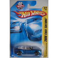 Hot Wheels 2008 First Editions Blue Camaro Convertible Concept 37/40 - DD661862
