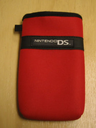 BD&A Red Neoprene Portable System Sleeve Carry Case Game For DS - EE661979