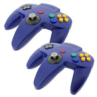 2 PCS New Long Controller Game System For Nintendo 64 N64 Blue - ZZ663585