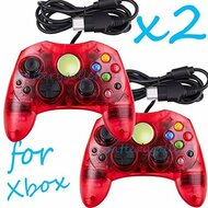 2 Lot Red Controller Control Pad For Original Microsoft Xbox X System - ZZ663763