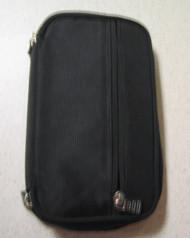 Generic Nylon Zip Around Wallet Checkbook Black Holds 7 Cards - DD665379