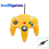 Retro N64 PC USB Yellow Controller Windows 98/ME/XP/VISTA/7/8+MAC - ZZ666555