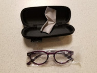 Eyekepper Vintage Ladies +1.00 Reading Glasses Purple Eyeglasses JEB67 - DD666702