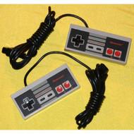 NES Controller Pair 2 Two Nintendo OEM Original 1985 - ZZ667171