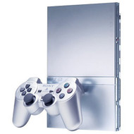 PlayStation 2 Slim Silver Video Game Console PS2 - ZZ667413