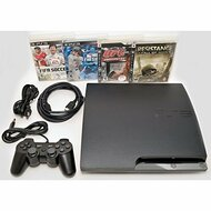 Sony PlayStation 3 Slim 250GB Game Console System PS3 Bundle With 4 - ZZ670281