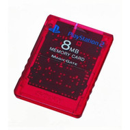 Sony OEM Memory Card Red For PlayStation 2 PS2 - ZZ670636