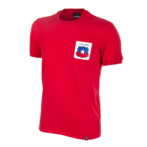 Chile WC 1974 Short Sleeve Retro Shirt 100% cotton