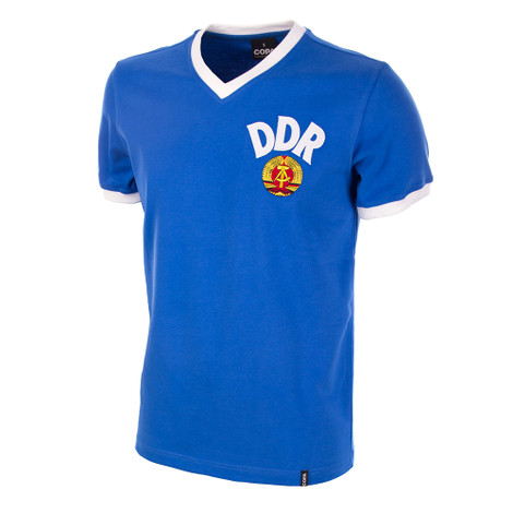 DDR WC 1974 Short Sleeve Retro Shirt 100% cotton