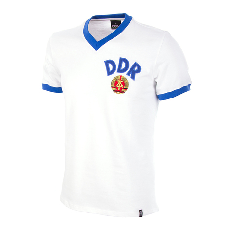DDR Away WC 1974 Short Sleeve Retro Shirt 100% cotton