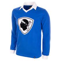 Bastia 1977/78 Long Sleeve Retro Shirt 100% cotton