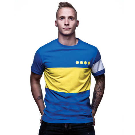 Boca Capitano T-Shirt // Blue 100% cotton