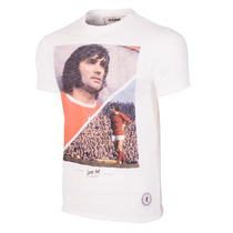 George Best Manchester T-Shirt // White 100% cotton