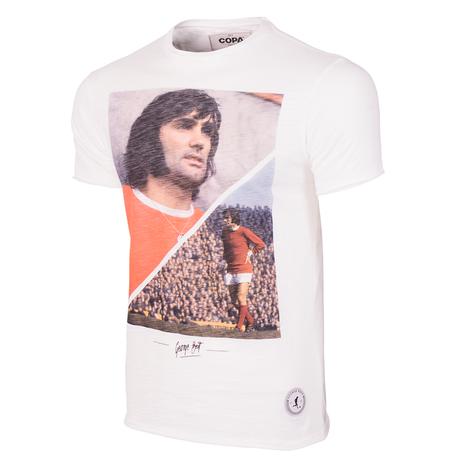 George Best Manchester T-Shirt // White 100% cotton