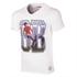 George Best GB V-Neck T-Shirt // White 100% cotton