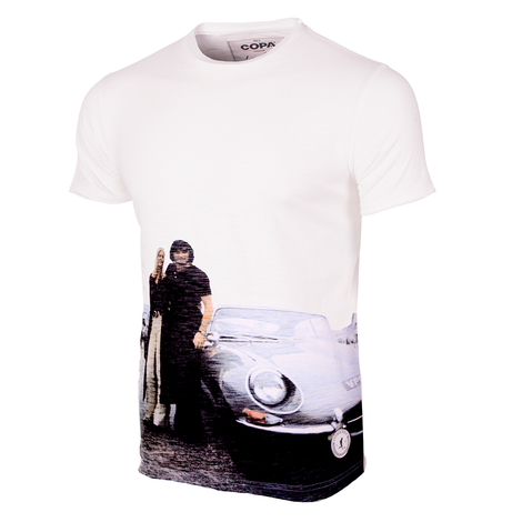 George Best E-type All Over Print T-Shirt // White 100% cotton