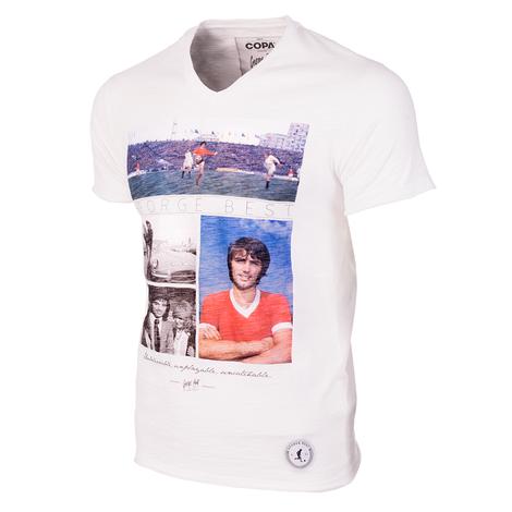 George Best Unbelievable V-Neck T-Shirt // White 100% cotton