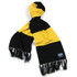 Deluxe Cashmere Football Scarf (Black/Yellow)