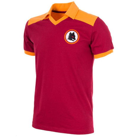 Retro Football Shirts - A.S Roma Home 1980 - Crimson/Gold - COPA 707