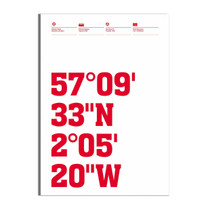 Aberdeen Stadium Coordinates Print
