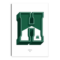 H Is For Hibs Print