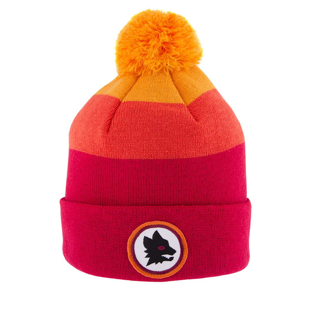 Football Hats - A.S Roma Retro Home Beanie - 6 Yard Box c36f5c403cf