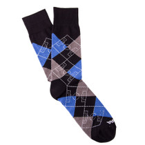 Copa Argyle Pitch Socks (Black/Grey/Blue)