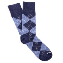 Copa Argyle Pitch Socks (Blue/Sky)