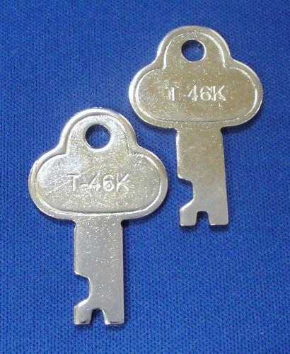 T46 Trunk Footlocker Key 2 Pack