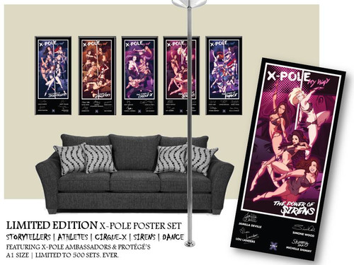 ...you get the Full Set of posters in one order. Perfect for your pole room!