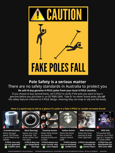 Fake Pole Caution POSTER