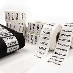 Merchandise Sizing Strip Labels