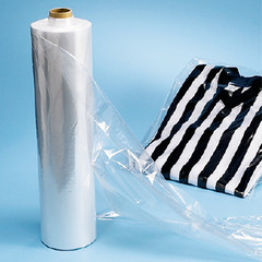 Roll of garment bags for retail store