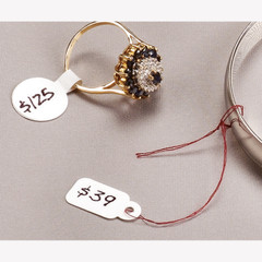 Monarch Jewelry Labels and String Tags