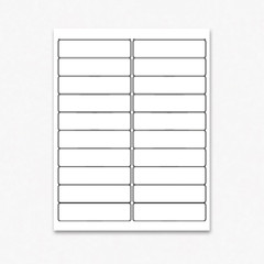 Blank Address Labels for Inkjet and Laser Printers