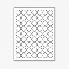 Laser Printer White Merchandising Circle Labels