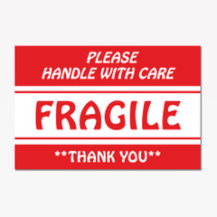 Please Handle with Care Fragile Label