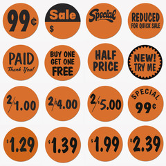"1-3/8"" Price Dot Promotional Labels"