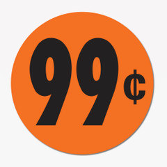 99 Cent Promotion Sticker