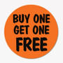 Buy One Get One Free Promotion Sticker